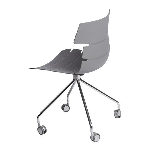 Zestaw 2 szarych krzeseł D2 Techno Roll