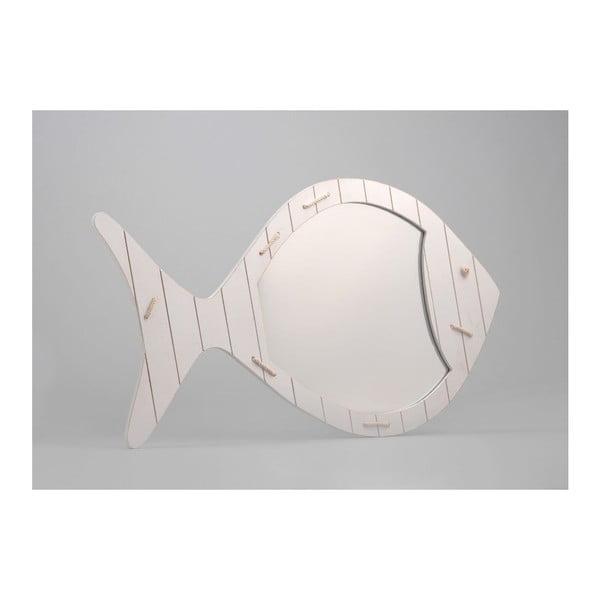 Lustro White Fish, 38x65 cm
