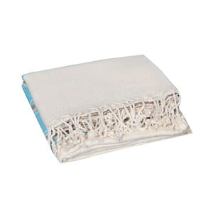 Turkusowy ręcznik hammam Veronica Turquoise, 90x190cm