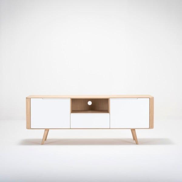 Szafka z drewna dębowego pod TV Gazzda Ena Two, 160x42x60 cm