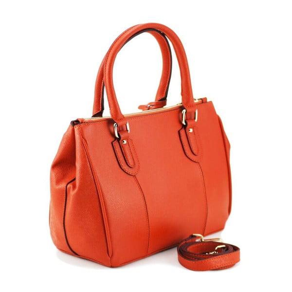 Skórzana torebka Claire Orange