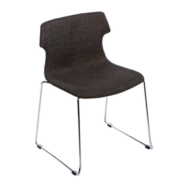 Zestaw 2 brązowych tapicerowanych krzeseł D2 Techno