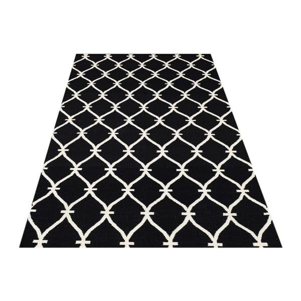 Ręcznie tkany dywan Kilim Belinda Black, 155x240 cm