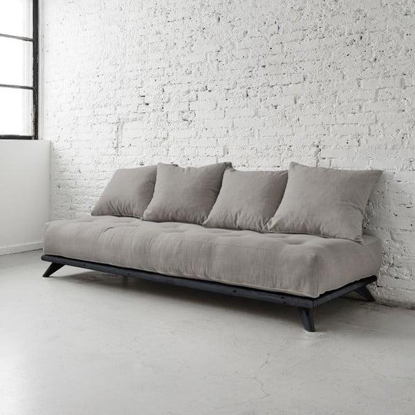 Sofa Senza Black/Granite Grey