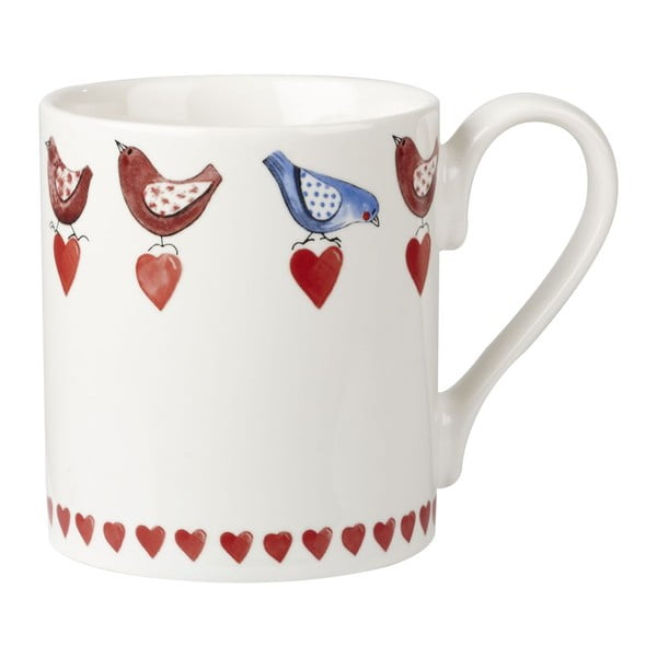 Zestaw 4 kubków Churchill China Lovebirds larch, 250 ml