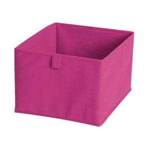 Różowe pudełko materiałowe, 30x30 cm