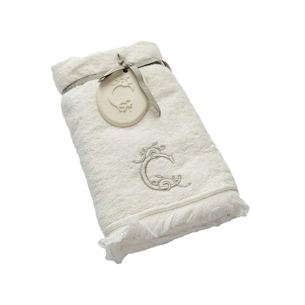 Ręcznik z inicjałem C, 50x90 cm
