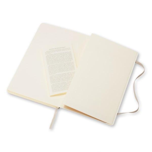 Beżowy notatnik gładki Moleskine Soft, duży