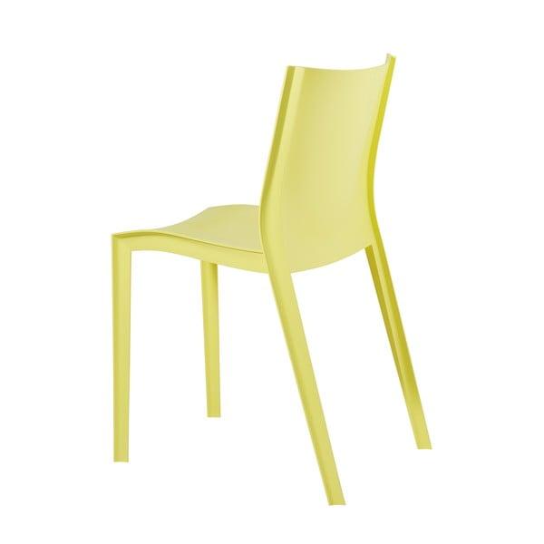 Komplet 2 krzeseł Slick Slick, żólte