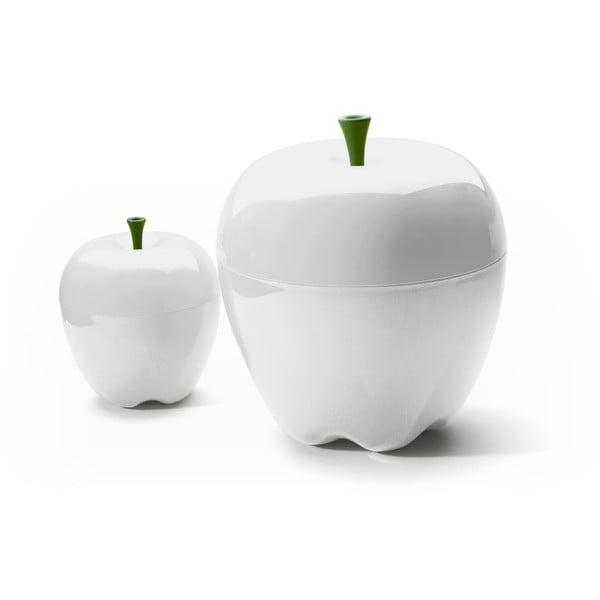 Miska z przykrywką QUALY Mini Happle Container, biała