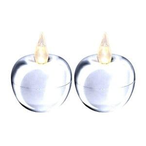 Zestaw 2   dekoracji świetlnych Best Season Apple Silver