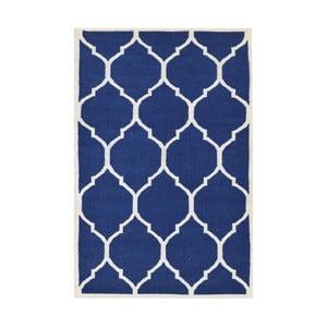 Dywan tkany ręcznie Lara, 140x200 cm, niebieski