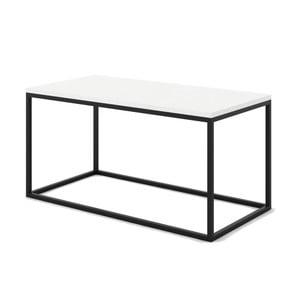 Biały stolik z marmuru z czarną konstrukcją Absynth Noi Brazil, duży