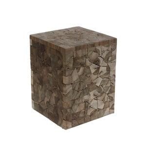 Stołek z drewna tekowego HSM Collection Tempel