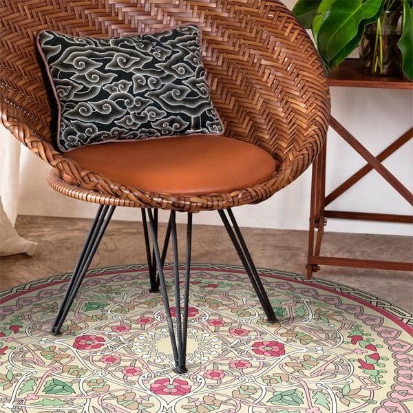 Wytrzymały dywan winylowy Round Geo, 100 cm