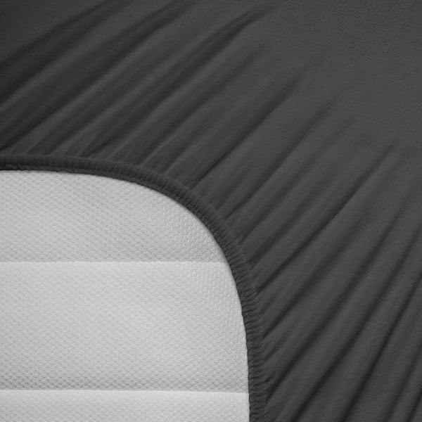 Prześcieradło elastyczne Hoeslaken 160-180x200 cm, grafitowe