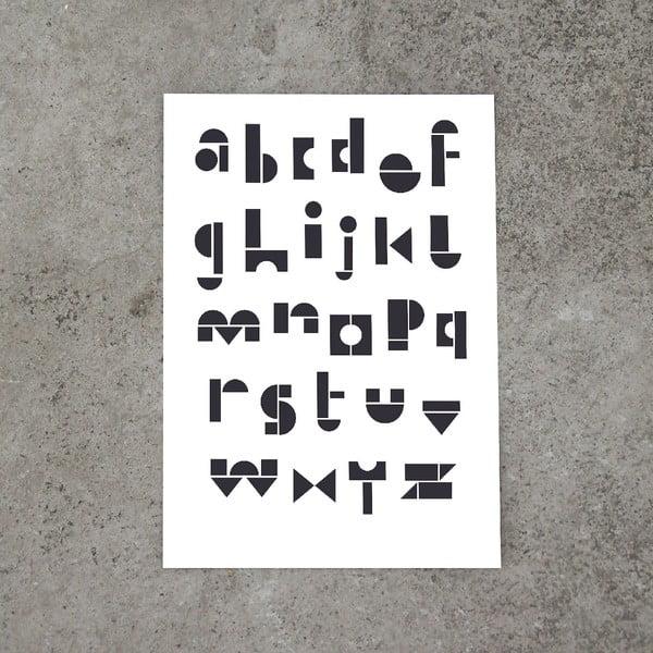 Plakat SNUG.ABC, 50x70 cm, czarnobiały