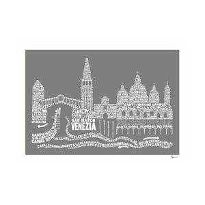 Plakat Venezia Grey&White, 50x70 cm