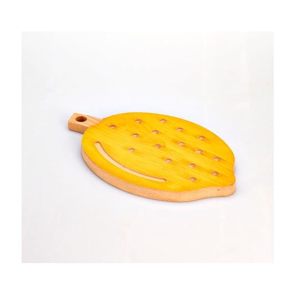 Deska do krojenia z drewna bukowego Bisetti Lemon, 21x34 cm
