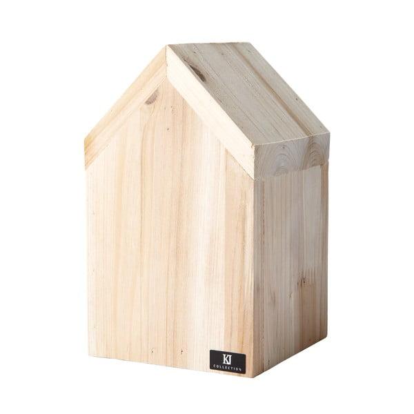 Domek dekoracyjny 16 cm, drewniany