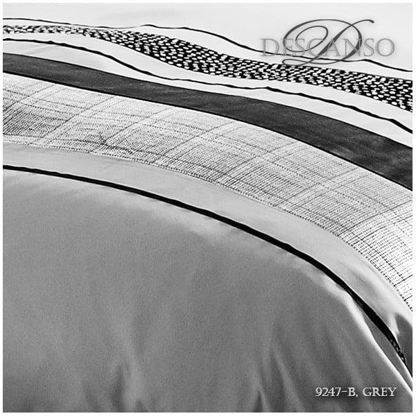 Pościel Descanso Grey Stripes, 140x200 cm