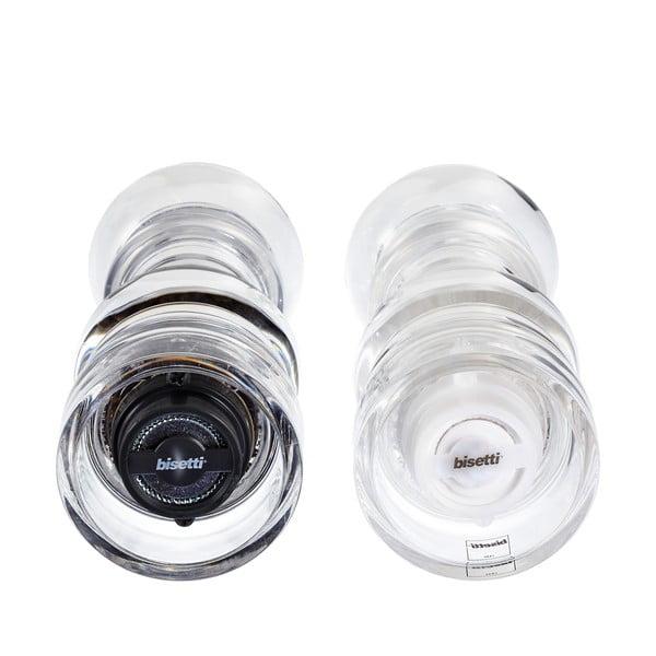 Komplet 2 młynków do soli i pieprzu Bisetti, 17,5 cm