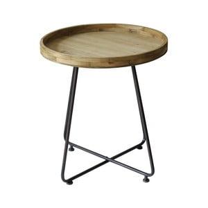 Stolik z metalu i drewna sosnowego Red Cartel, Ø 62 cm