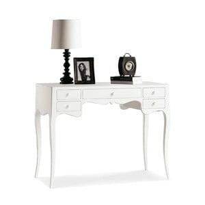 Białe biurko drewniane z 5 szufladami Castagnetti Lido