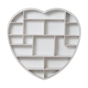 Wisząca biblioteczka drewniana Crido Consulting Biscottini Heart,101x98cm