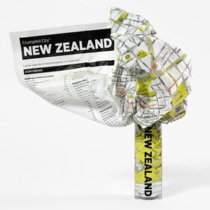 Zgnieciona mapa Nowej Zelandii