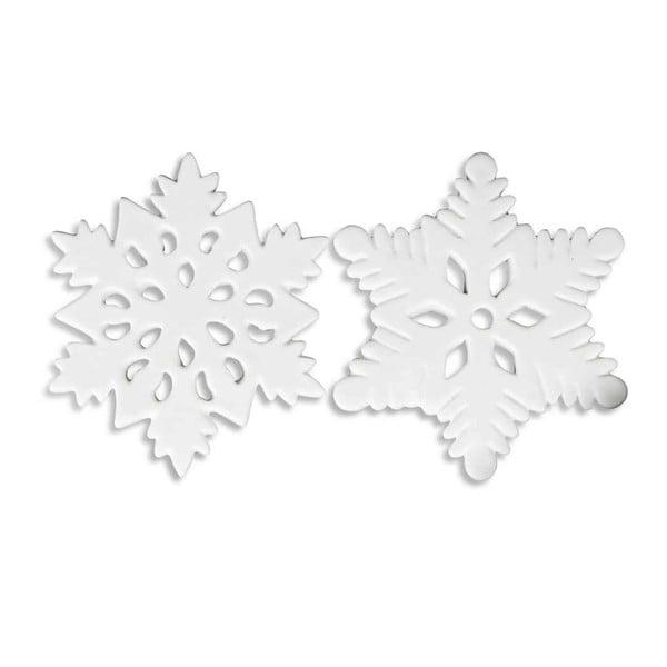 Zestaw 2 dekoracyjnych płatków śniegu Xmas