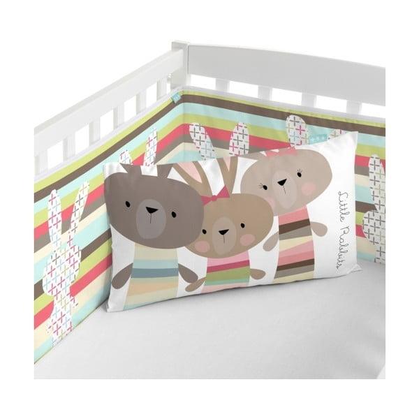 Ochraniacz do łóżeczka Little W Rabbit, 60x60 cm