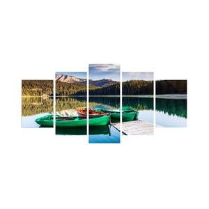 Pięcioczęściowy obraz Na jeziorze