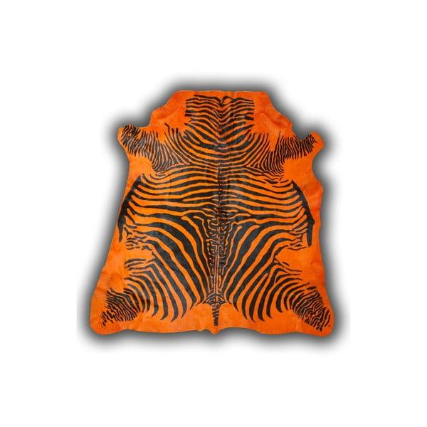 Skóra dekoracyjna  Norman Cow Zebra Orange, 170x190 cm