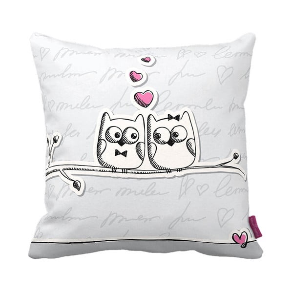 Poduszka Owl Lovers, 43x43 cm