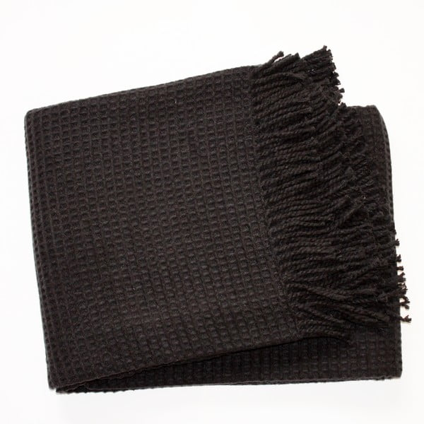 Koc Waffel Black, 140x180 cm