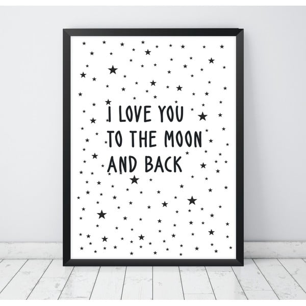 Plakat Nord & Co To the Moon And Back, 40x50 cm