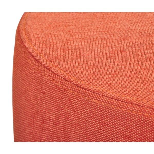 Pomarańczowy stołek ze zdejmowanym blatem Garageeight Molde, ⌀ 35 cm