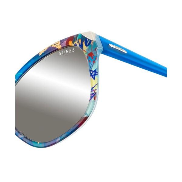 Damskie okulary przeciwsłoneczne Guess 398 Blue