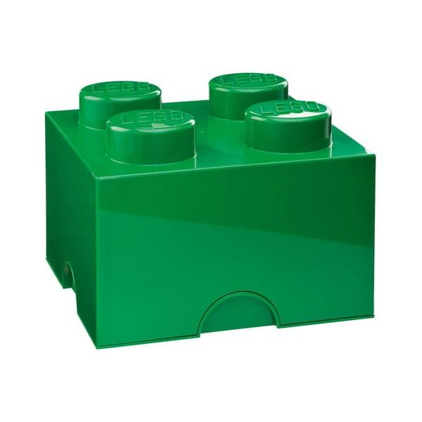 Zielony kwadratowy pojemnik LEGO®