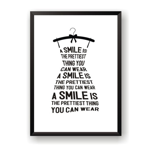 Plakat Nord & Co Smile Is, 40x50 cm