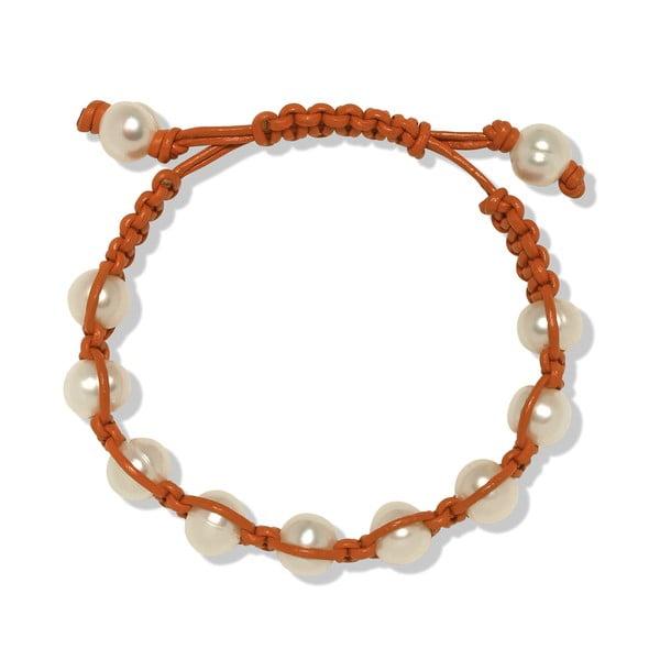 Pomarańczowa bransoletka perłowa Nova Pearls Copenhagen Mara de Vida