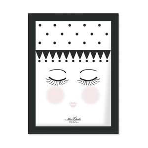 Plakat w ramie Eyes and Dots, 30x40 cm