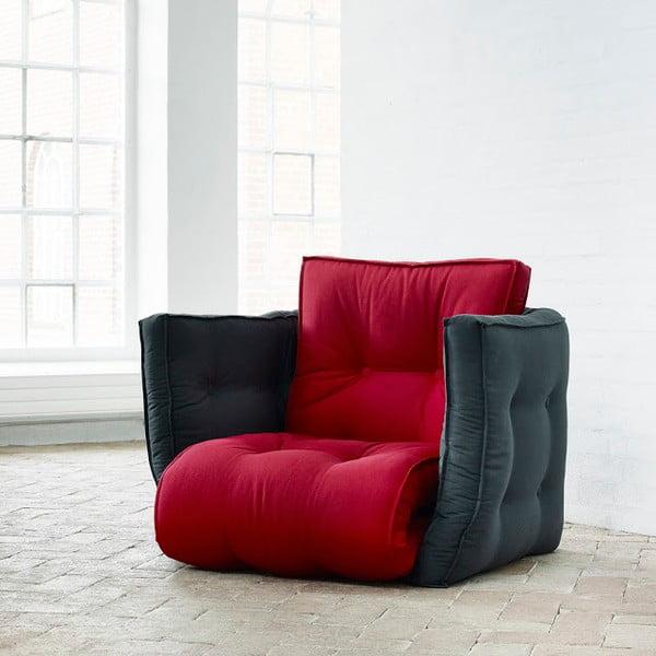 Fotel rokładany Karup Dice Red/Gray
