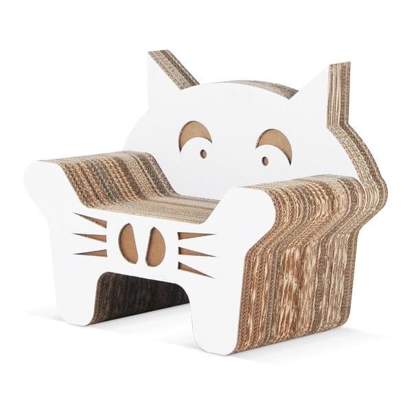 Kartonowy fotelik dziecięcy Gatto White
