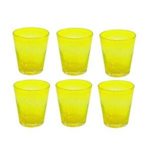 Komplet 6 szklanek Aqua Giallo
