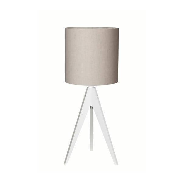 Szara lampa stołowa 4room Artist, biała lakierowana brzoza, Ø 25 cm