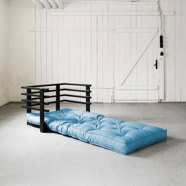 Fotel rozkładany Karup Funk Black/Horizon Blue