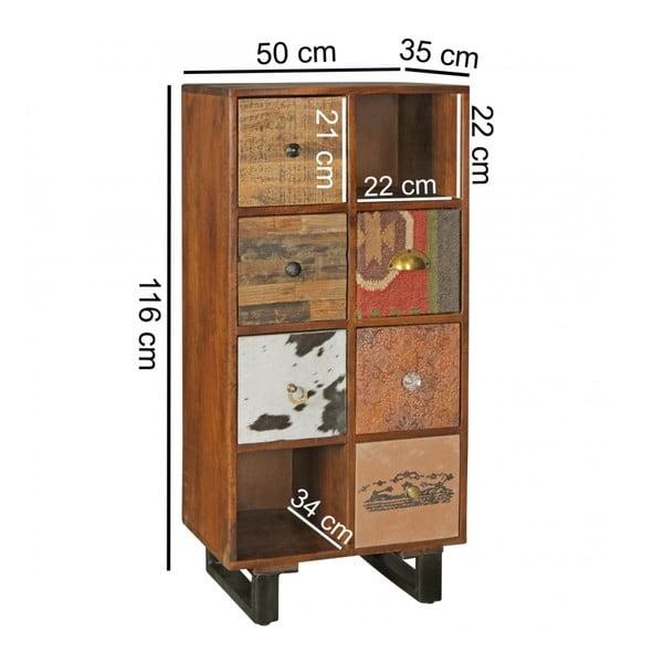 Komoda z 6 szufladami z litego drewna mango Skyport PATNA