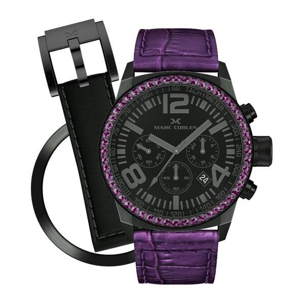 Zegarek damski Marc Coblen z dodatkowym paskiem i obręczą P118
